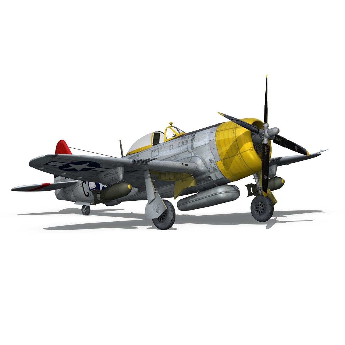 republic p-47d thunderbolt – chief seattle 3d model fbx c4d lwo obj 268213
