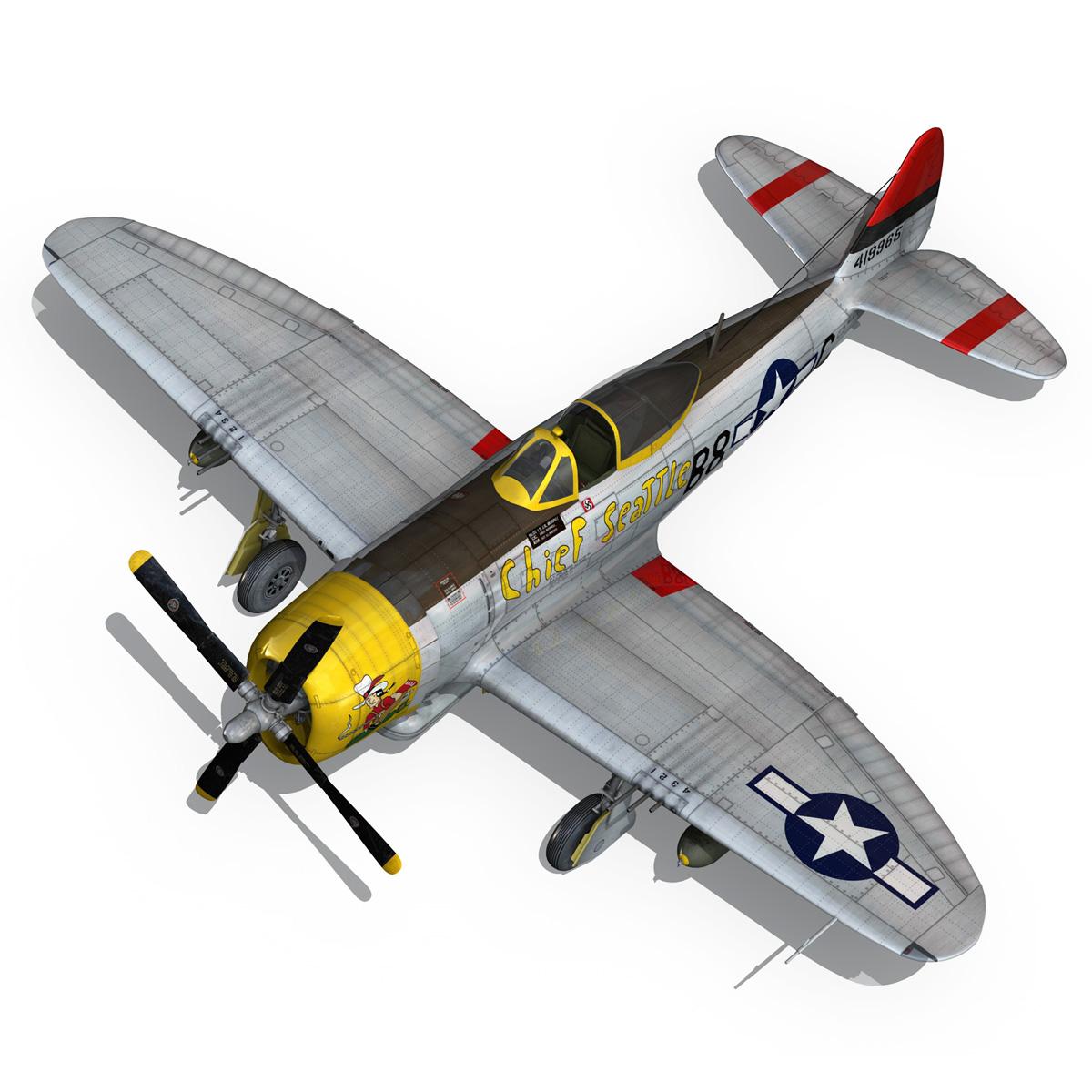 republic p-47d thunderbolt – chief seattle 3d model fbx c4d lwo obj 268215