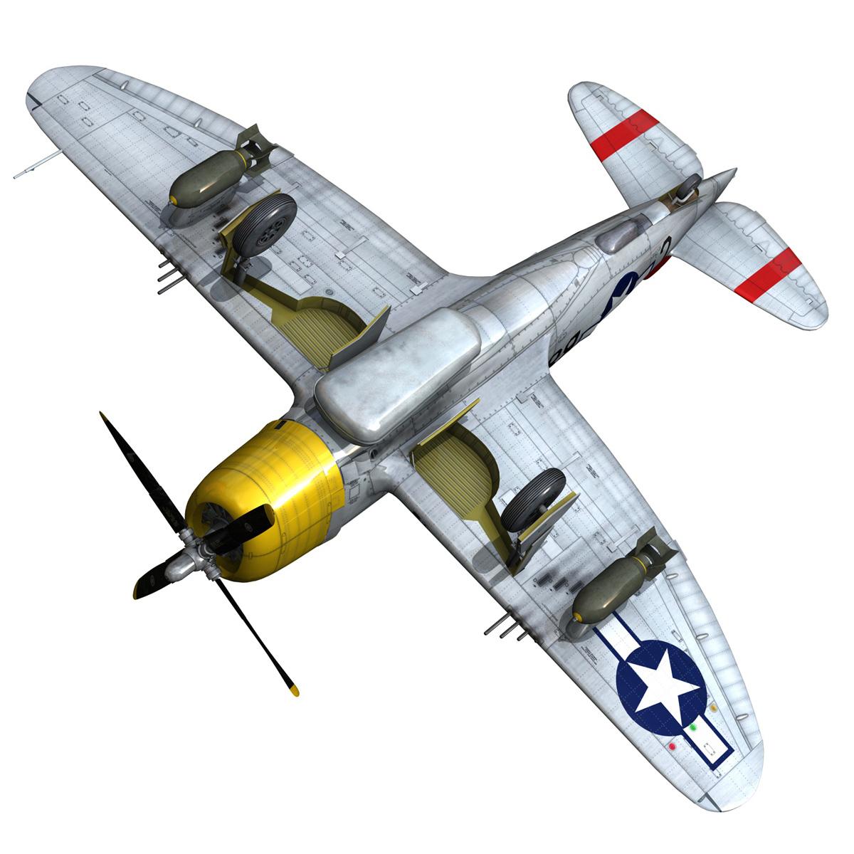 republic p-47d thunderbolt – chief seattle 3d model fbx c4d lwo obj 268217