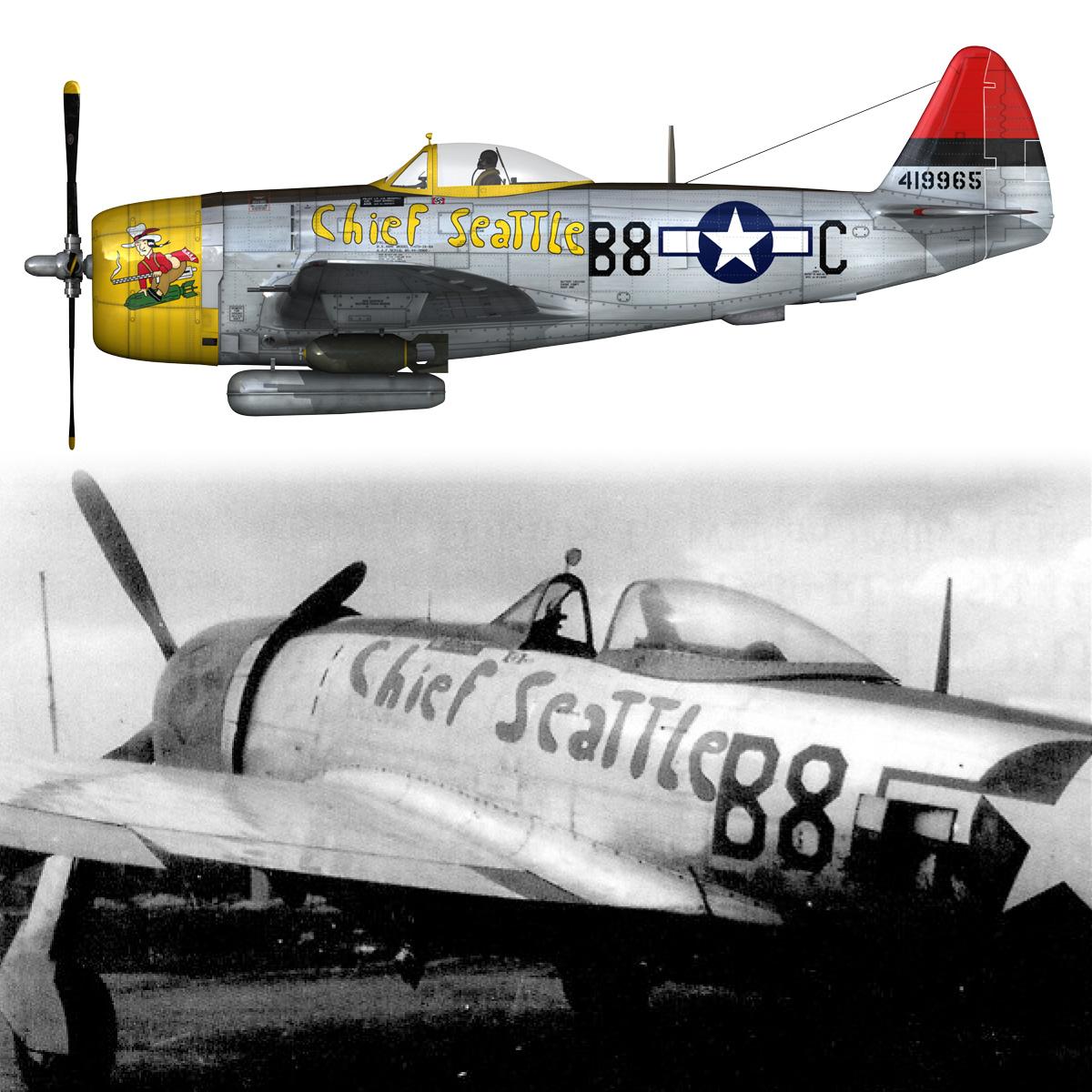 republic p-47d thunderbolt – chief seattle 3d model fbx c4d lwo obj 268218