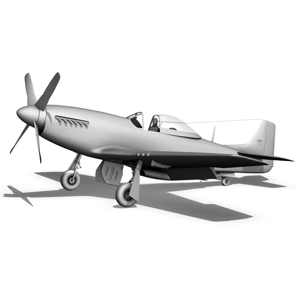 north american p-51d mustang – swedisch airforce 3d model fbx c4d lwo obj 268245