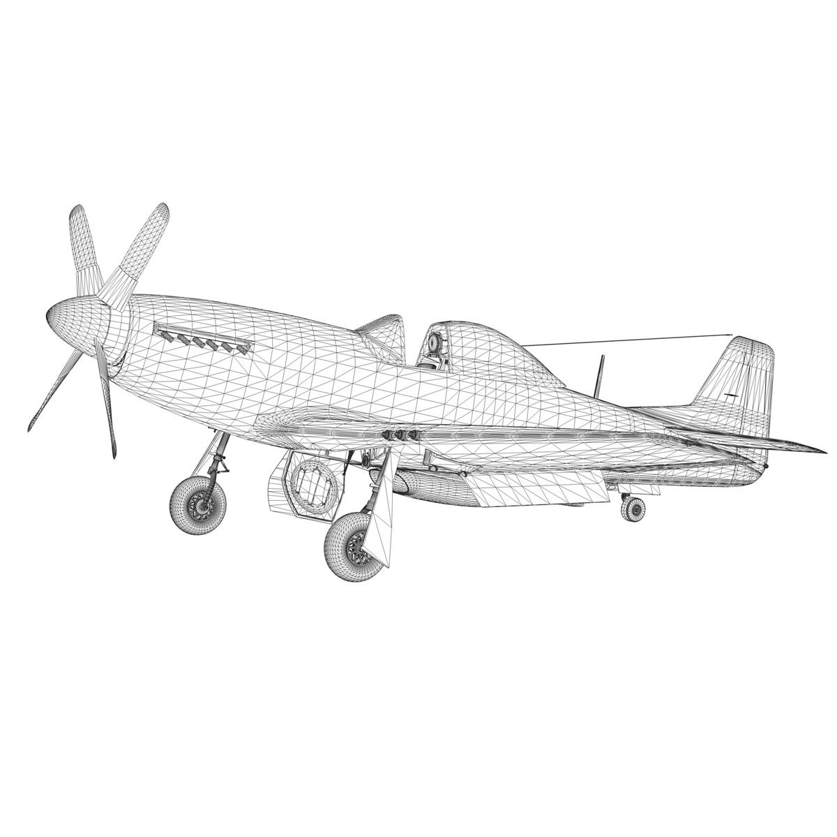 north american p-51d mustang – swedisch airforce 3d model fbx c4d lwo obj 268246