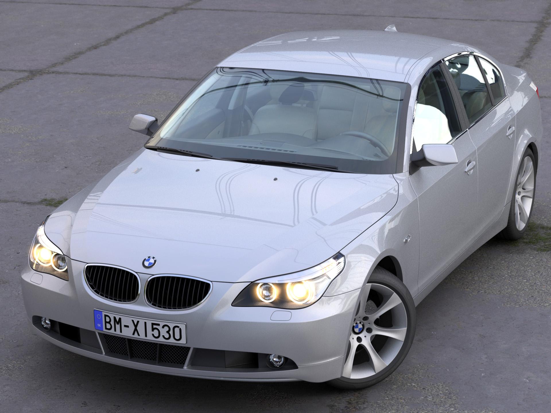 BMW 5 Series Sedan 2006 3d model 3ds max fbx c4d obj 268255