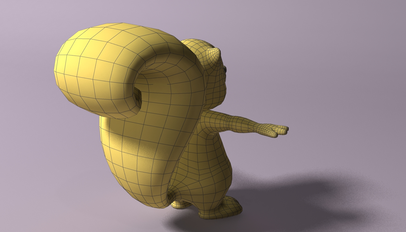 cartoon skunk rigged 3d model 3ds max fbx  obj 268282