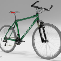 Green Mountain Bike 3d model 3d printing high poly render ready max fbx c4d lxo  obj