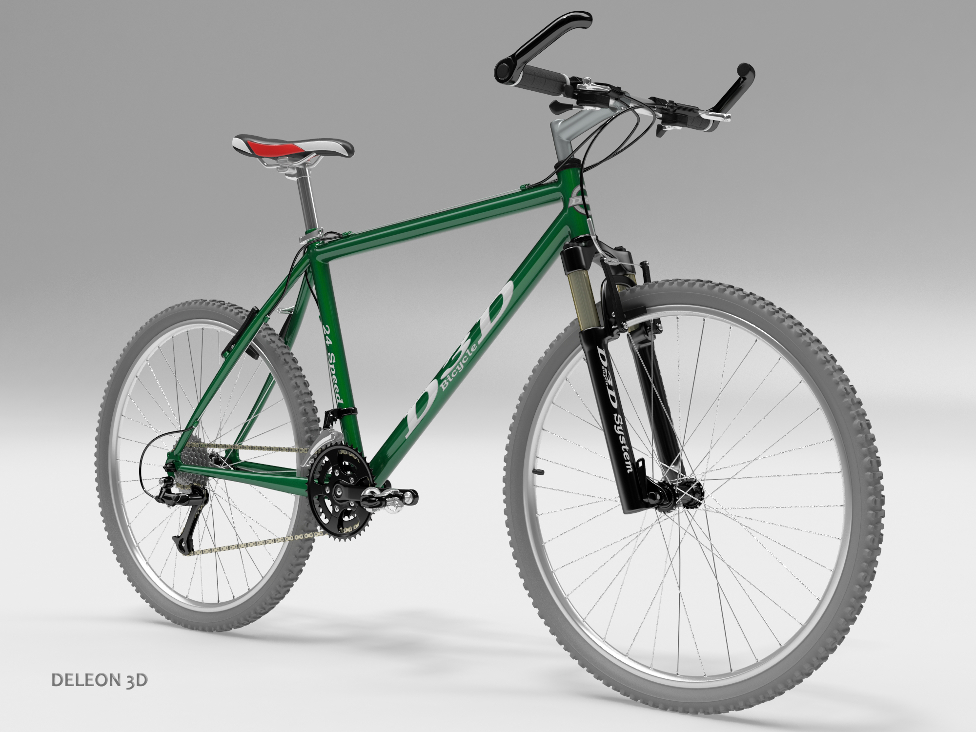 zeleni mountain bike 3d model max fbx c4d lxo obj 268300
