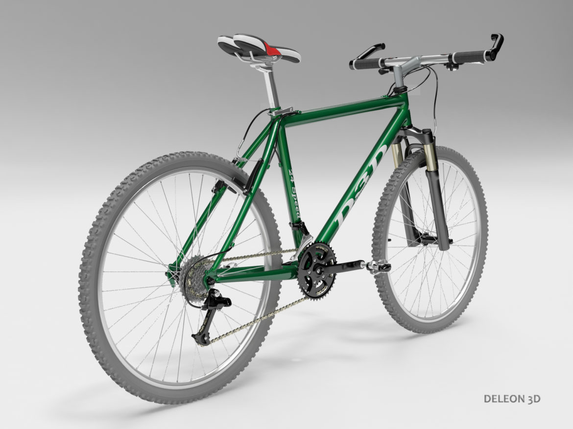 green mountain bike 3d model max fbx c4d lxo  obj 268301