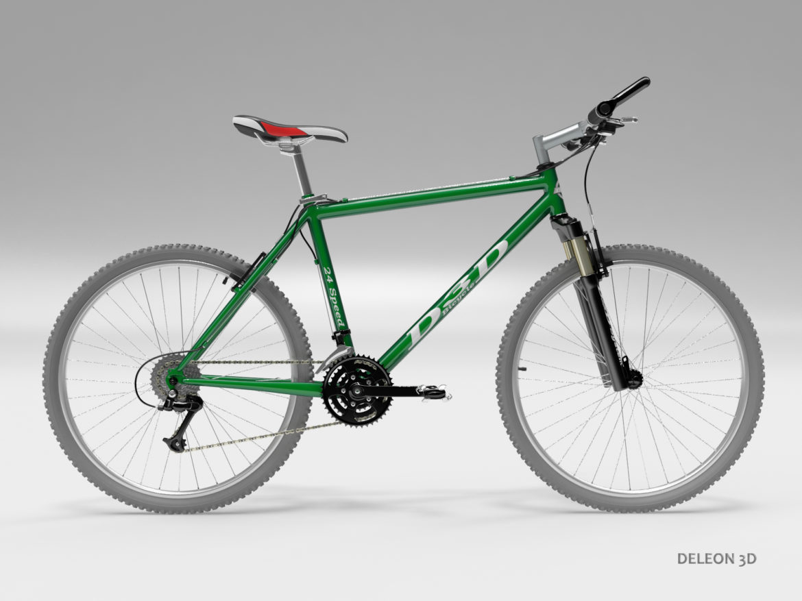 green mountain bike 3d model max fbx c4d lxo  obj 268302