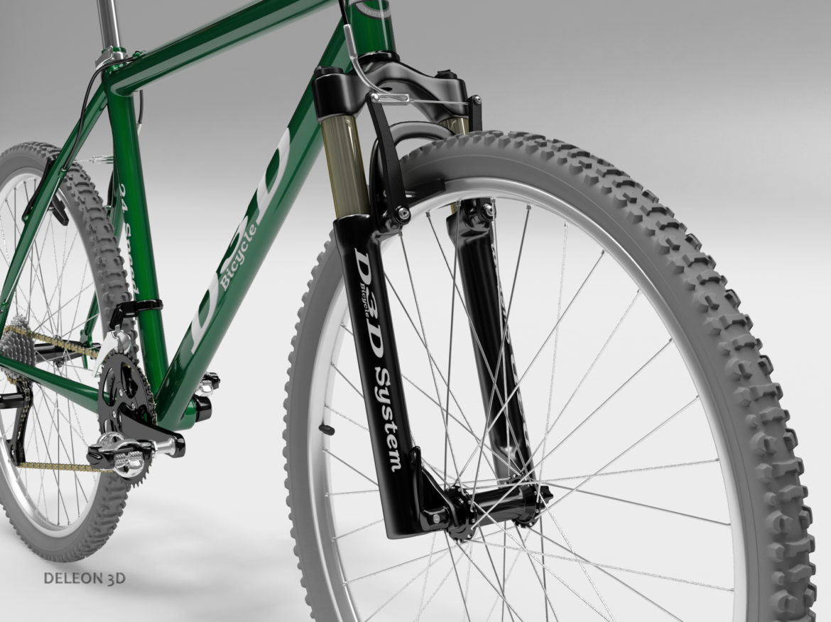green mountain bike 3d model max fbx c4d lxo  obj 268303