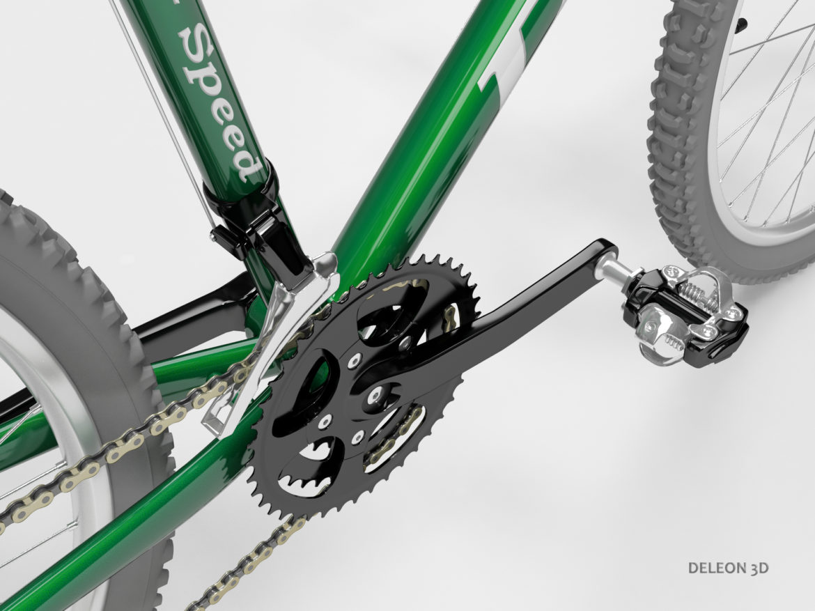 green mountain bike 3d model max fbx c4d lxo  obj 268304