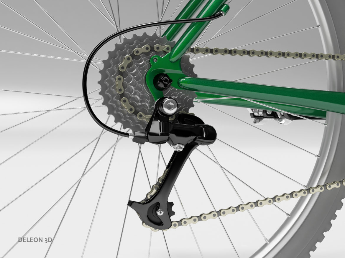 green mountain bike 3d model max fbx c4d lxo  obj 268306