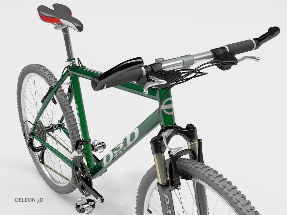 green mountain bike 3d model max fbx c4d lxo  obj 268307