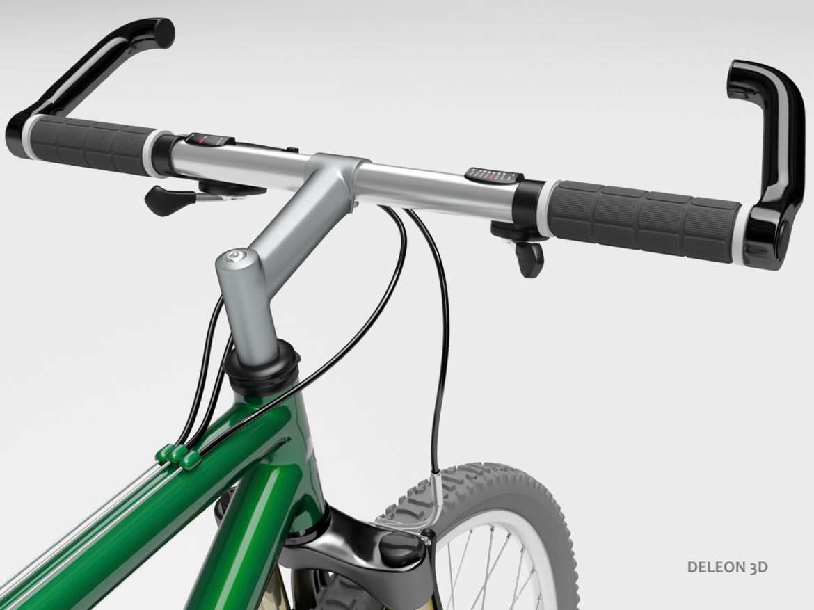 green mountain bike 3d model max fbx c4d lxo  obj 268309