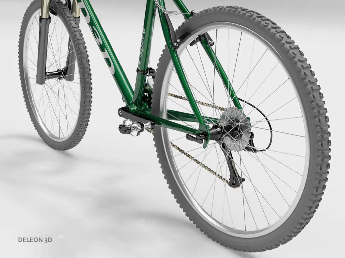 green mountain bike 3d model max fbx c4d lxo  obj 268311