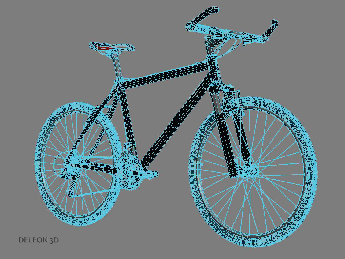 green mountain bike 3d model max fbx c4d lxo  obj 268312