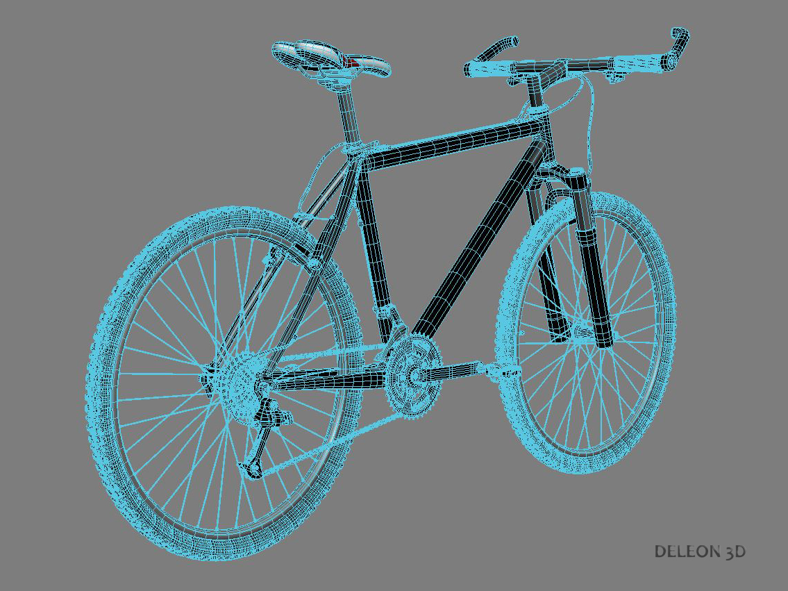 green mountain bike 3d model max fbx c4d lxo  obj 268313