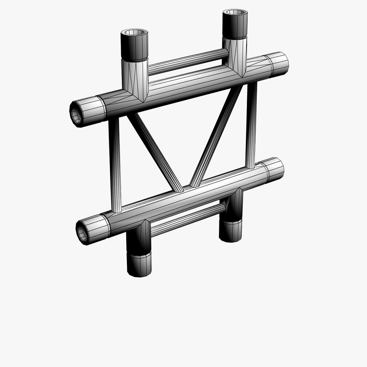 square triangular beam collection 170 modular 3d model