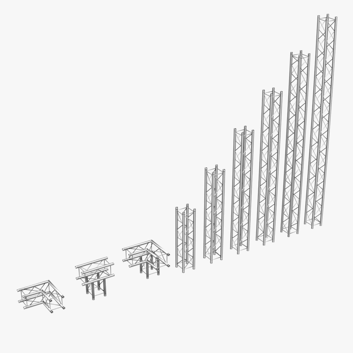 vieglās kvadrātveida kopnes (kolekcija 9 moduļu) 3d modelis 3ds max dxf fbx c4d dae text wrl wrz obj citas 268516