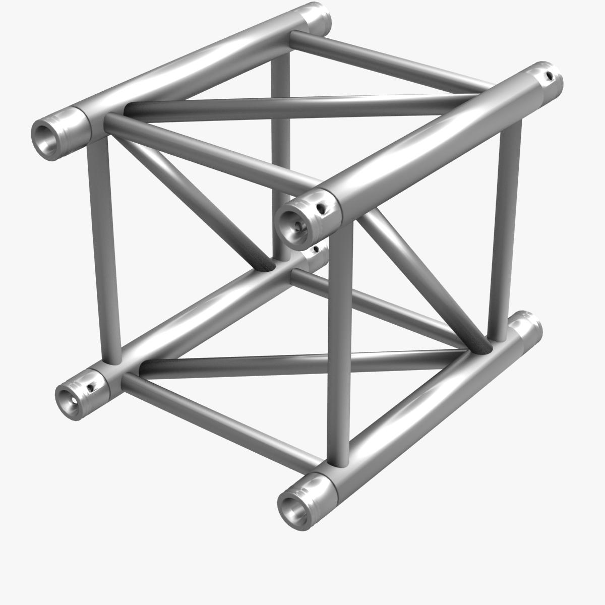 big square truss (collection 10 modular pieces) 3d model 3ds dxf fbx c4d dae  268541