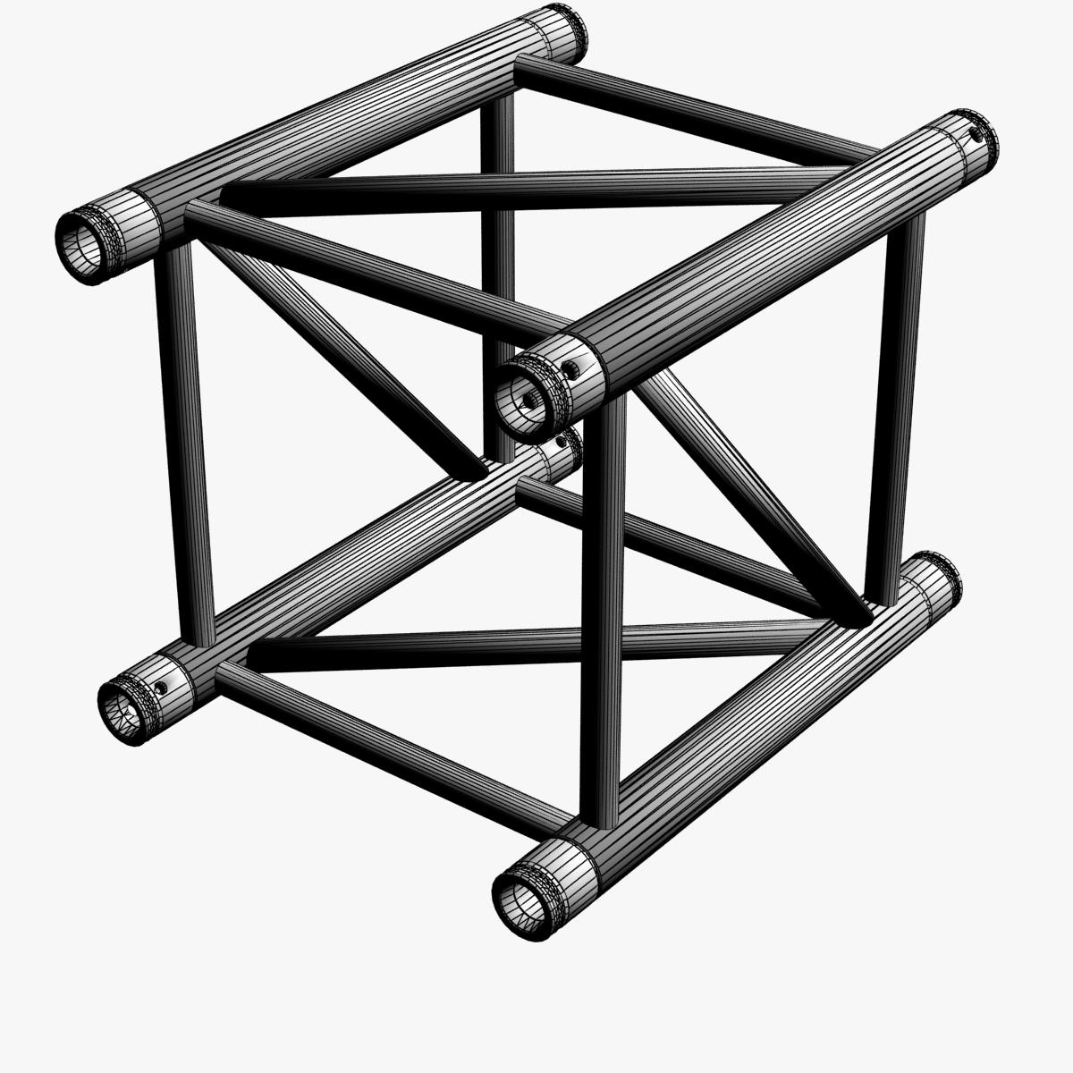 big square truss (collection 10 modular pieces) 3d model 3ds dxf fbx c4d dae  268542