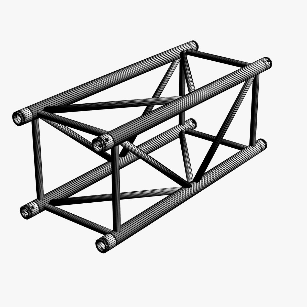 big square truss (collection 10 modular pieces) 3d model 3ds dxf fbx c4d dae  268547