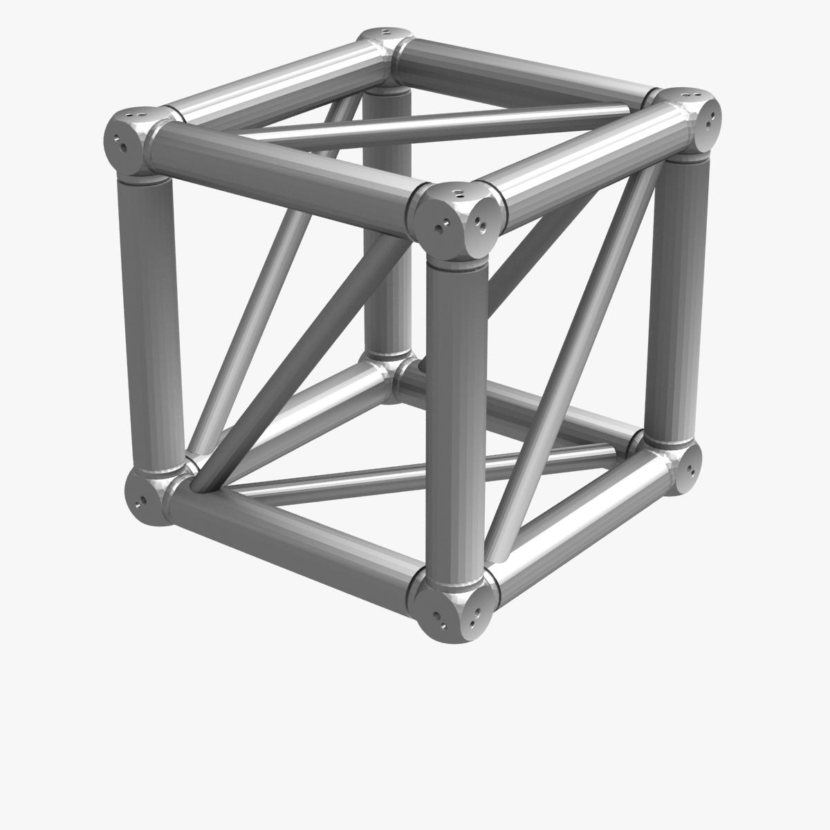 big square truss (collection 10 modular pieces) 3d model 3ds dxf fbx c4d dae  268562