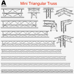 Mini Triangular Truss (Collection 14 Modular) 3d model 0