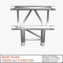 Beam Truss Cross and T Junction 134 3d model 3d printing 3ds max dxf fbx c4d  obj