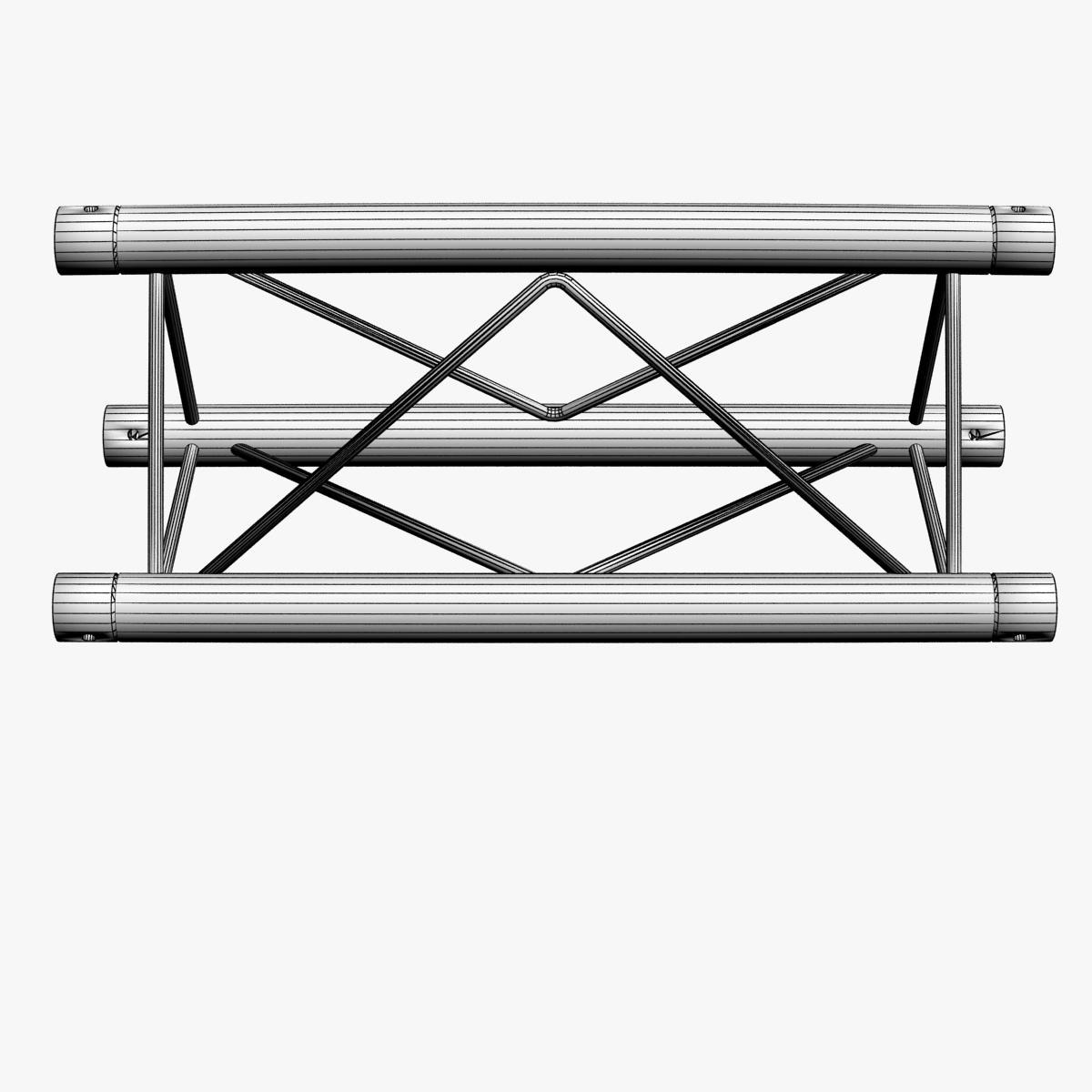 mini triangular truss straight segment 111 3d model 3ds max dxf fbx c4d  obj other 268878