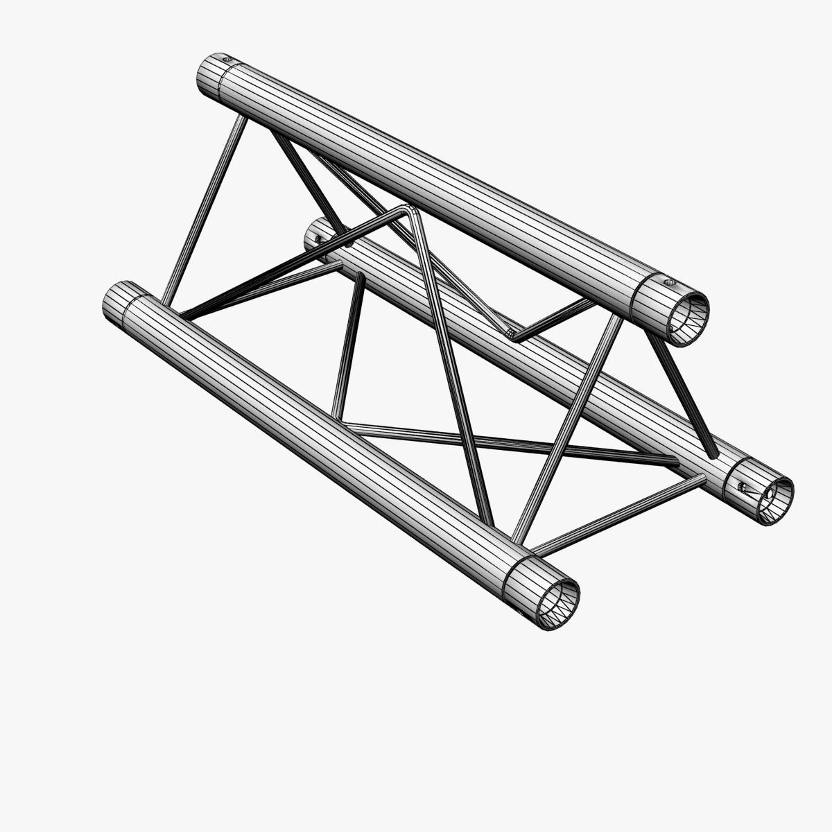mini triangular truss straight segment 111 3d model 3ds max dxf fbx c4d  obj other 268880