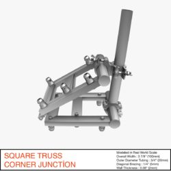 Square Truss Corner Junction 36 3d model 3d printing 3ds max dxf fbx b3d c4d   obj