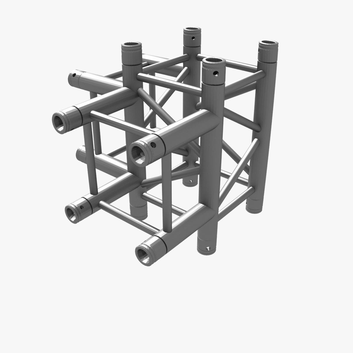 Square truss corner junction 44 3d model buy square for Buy truss