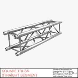 Square Truss Straight Segment 21 3d model 0