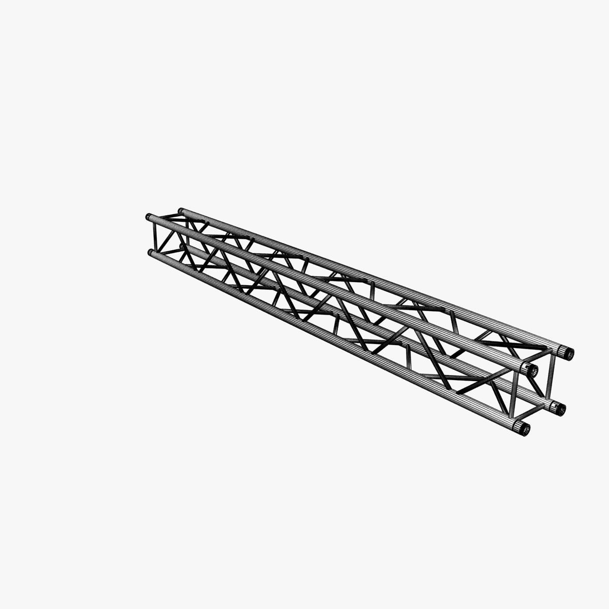 Square truss straight segment 26 3d model buy square for Buy truss