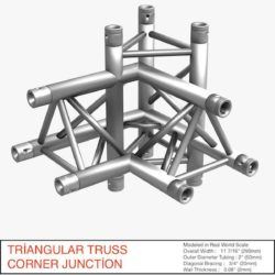 Triangular Truss Corner Junction 102 3d model 0