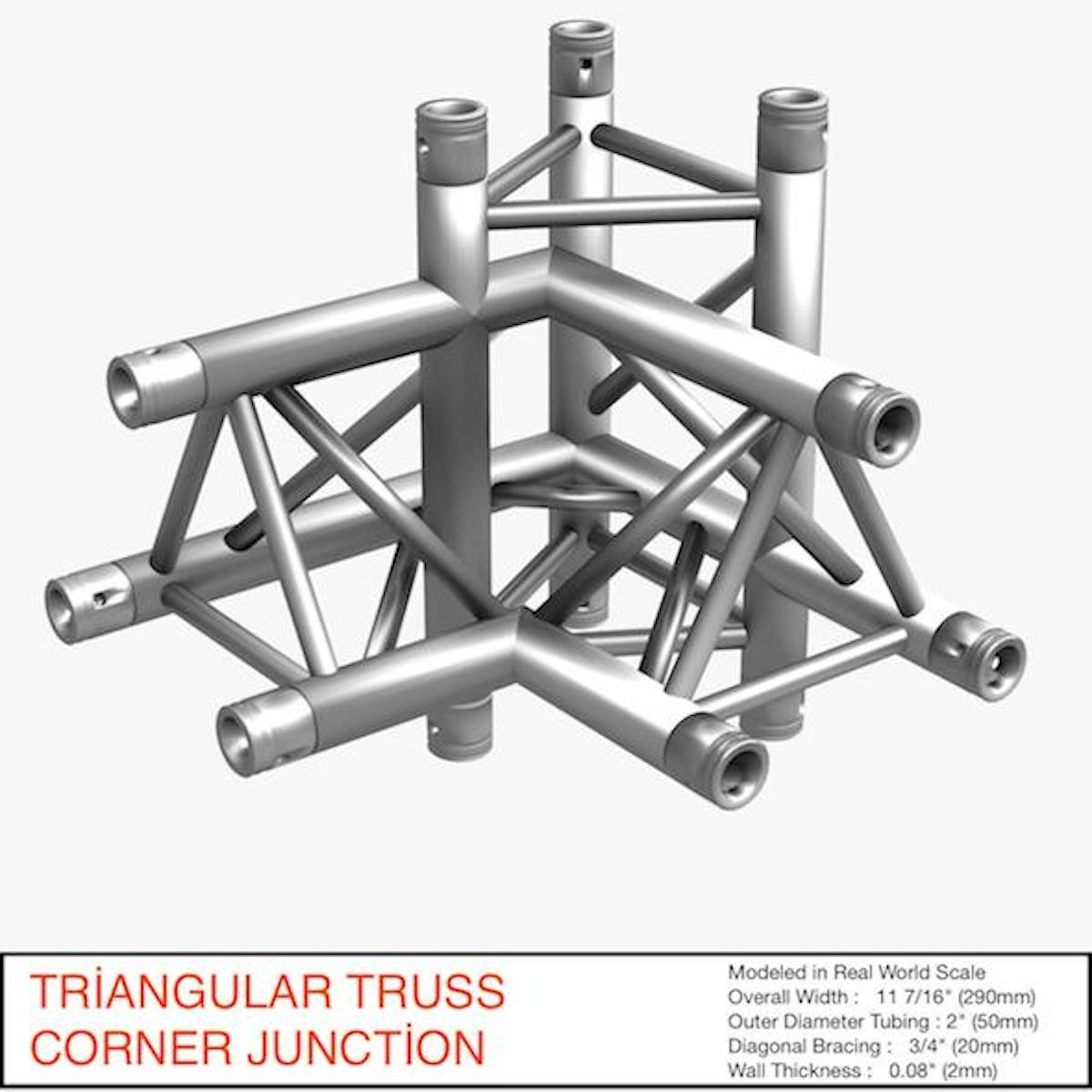 triangular truss corner junction 102 3d model 3ds max dxf fbx b3d c4d other  obj 268931