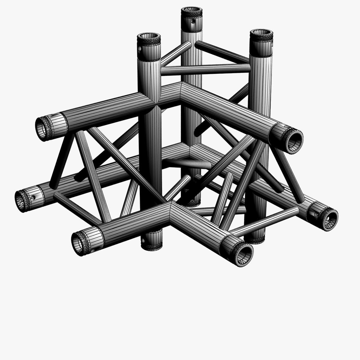Triangular truss corner junction 102 3d model buy for Buy truss