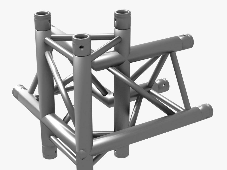 Triangular Truss Corner Junction 102 3d model 3d printing 3ds max dxf fbx b3d c4d   obj