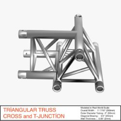 Triangular Truss Cross T Junction 84 3d model 0