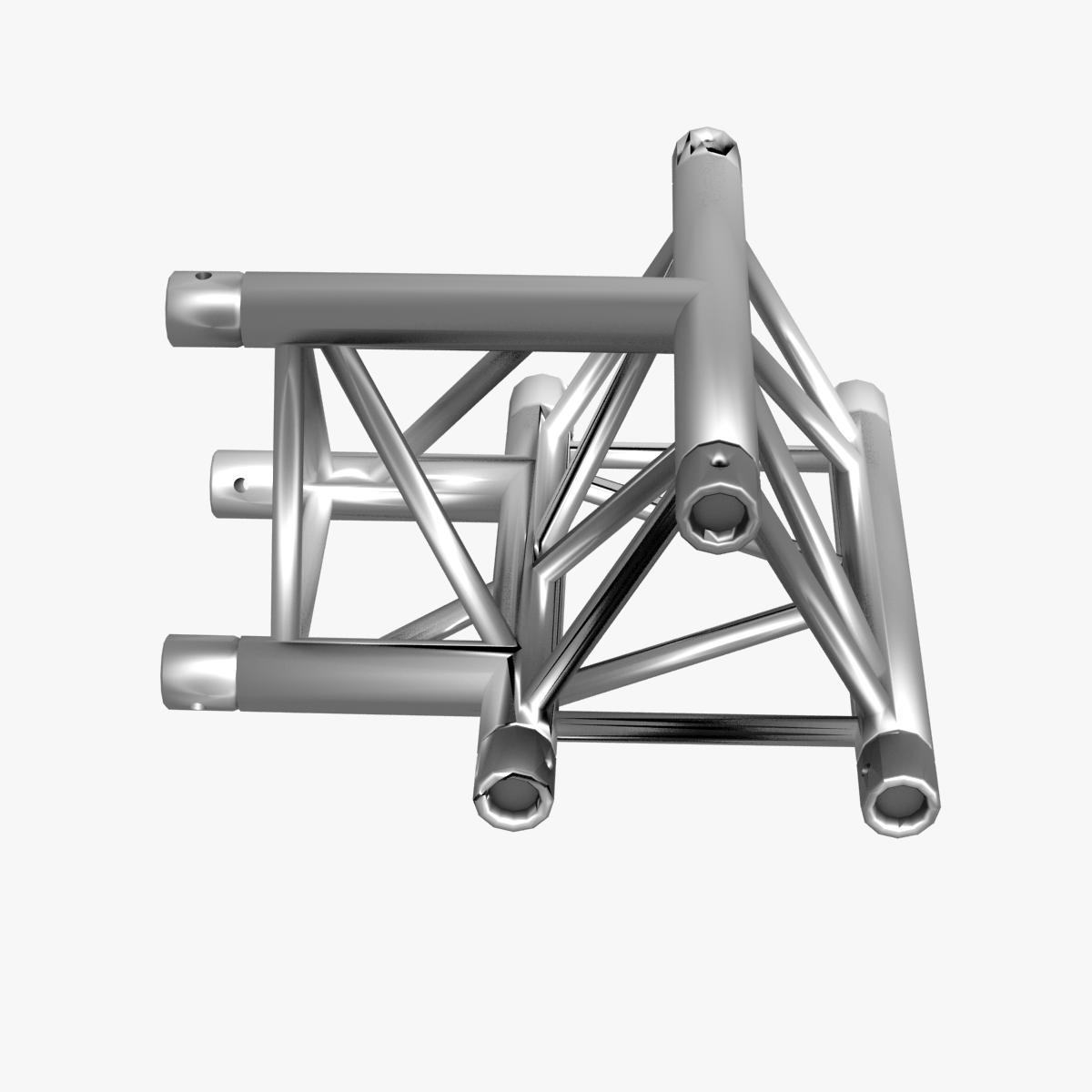 Triangular Truss Cross T Junction 84 3d model 3ds max dxf fbx b3d c4d  obj 268952