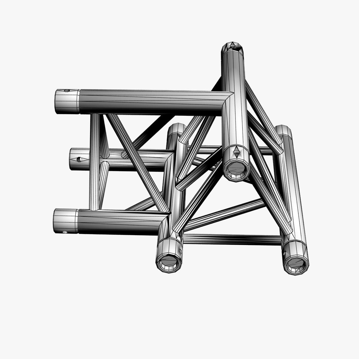 Triangular Truss Cross T Junction 84 3d model 3ds max dxf fbx b3d c4d  obj 268953