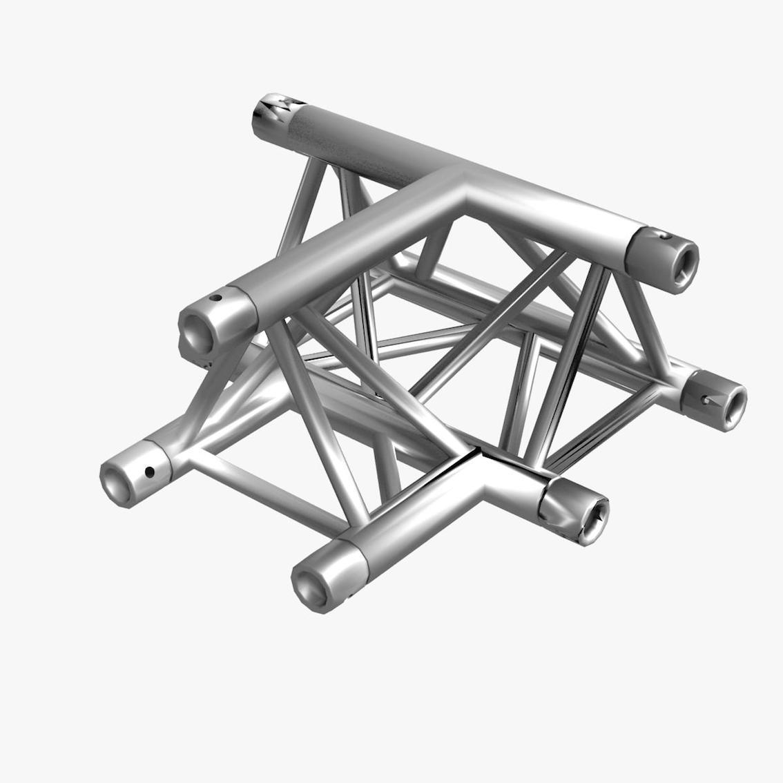 Triangular Truss Cross T Junction 84 3d model 3ds max dxf fbx b3d c4d  obj 268954