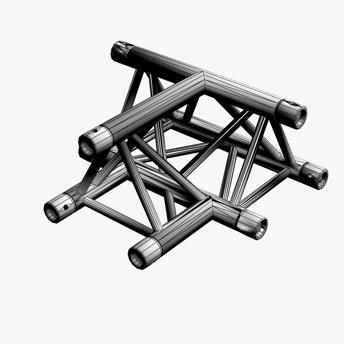 Triangular Truss Cross T Junction 84 3d model 3ds max dxf fbx b3d c4d  obj 268955