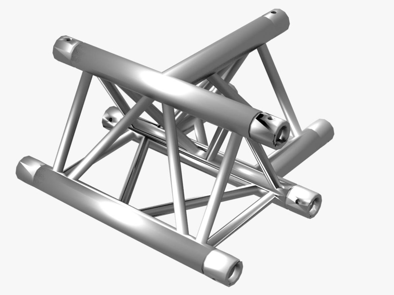 Triangular Truss Cross T Junction 84 3d model 0