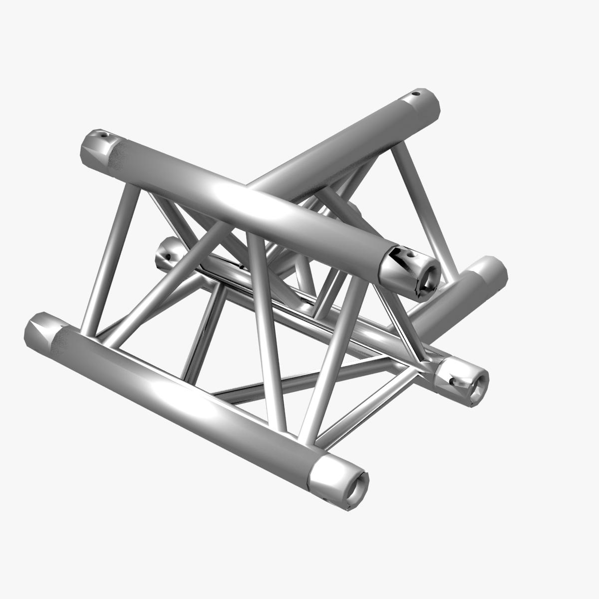 Triangular Truss Cross T Junction 84 3d model 3ds max dxf fbx b3d c4d  obj 268956