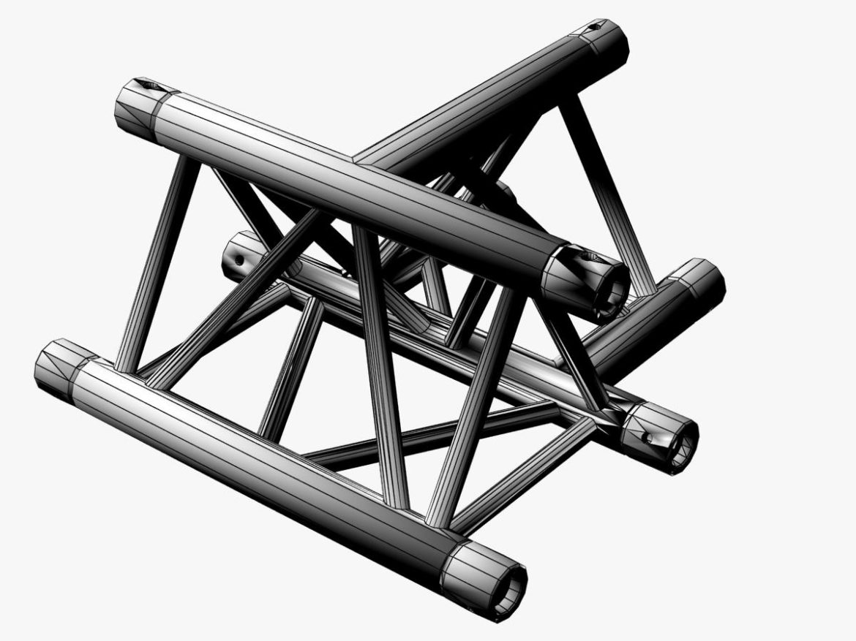 Triangular Truss Cross T Junction 84 3d model 3d printing 3ds max dxf fbx b3d c4d  obj