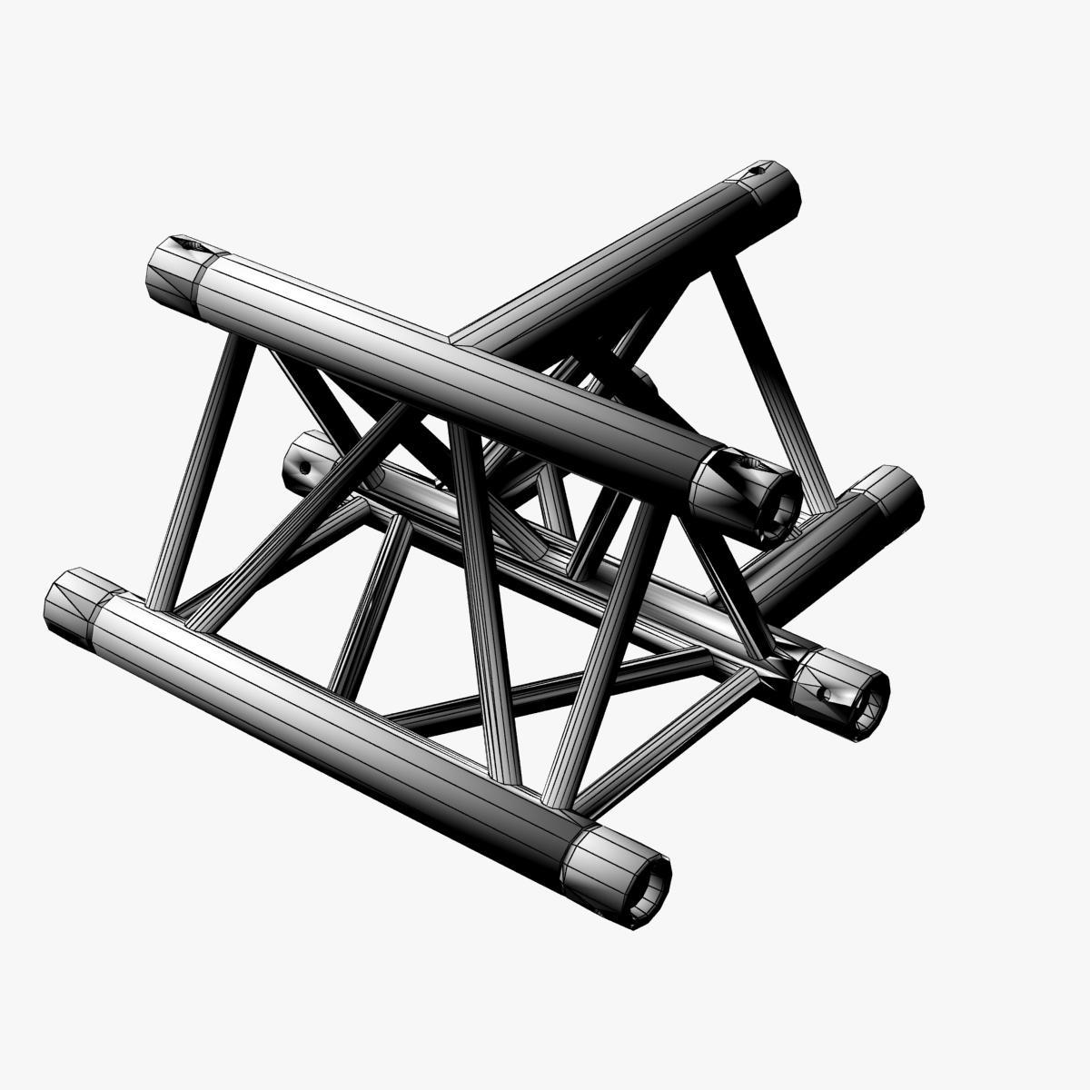 Triangular Truss Cross T Junction 84 3d model 3ds max dxf fbx b3d c4d  obj 268957