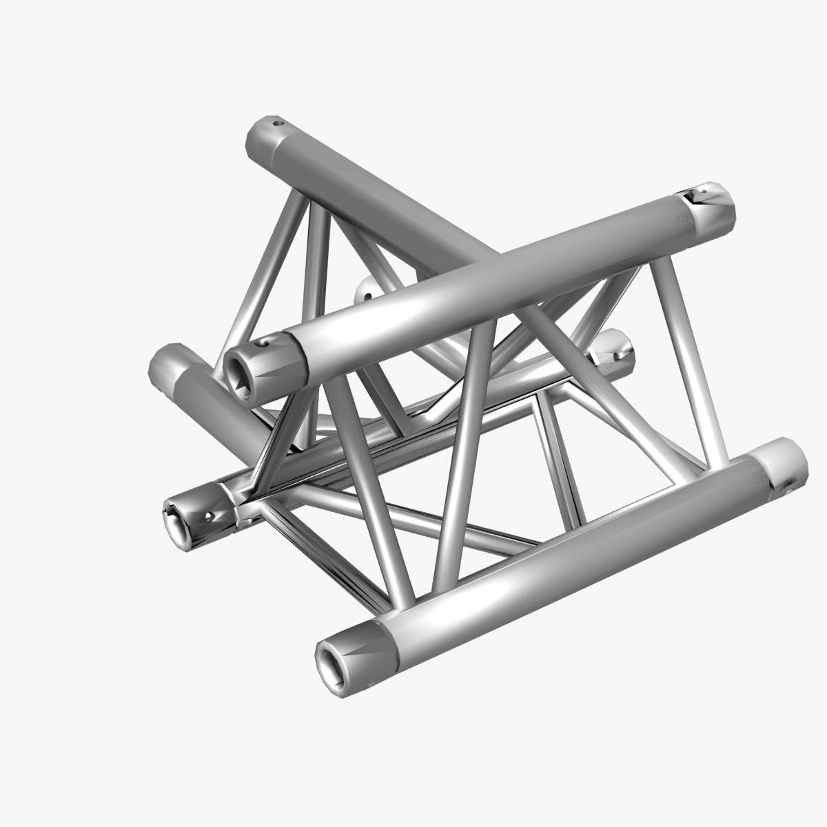Triangular Truss Cross T Junction 84 3d model 3ds max dxf fbx b3d c4d  obj 268958