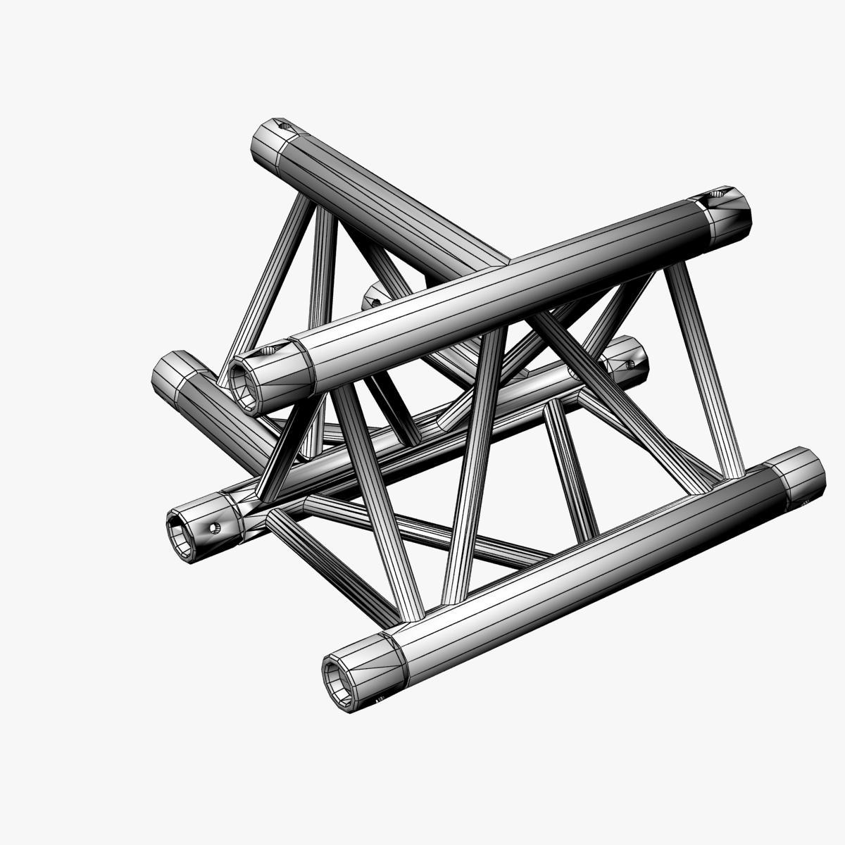 Triangular Truss Cross T Junction 84 3d model 3ds max dxf fbx b3d c4d  obj 268959