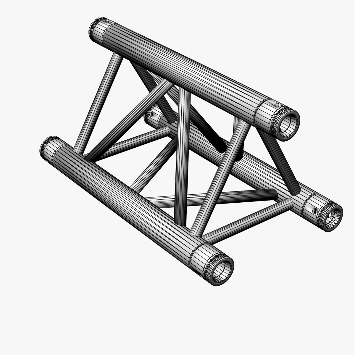 Triangular Truss Straight Segment 71 3d model 3ds max dxf fbx b3d c4d  obj 268966